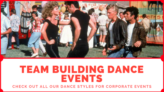 grease, team building, dance event, music team building, dance team building, energiser, corporate, ice breaker