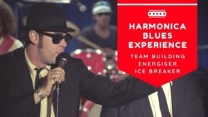 Harmonica blues, music team building, corporate music