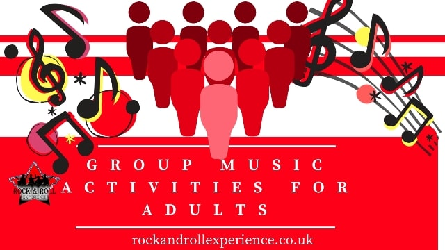 group music activities for adults, team building, corporate music